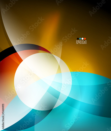 Lights and waves abstract background