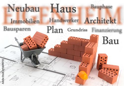 Eigenheim Bau Konzept