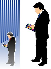 Businessman with a tablet