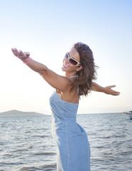 Woman at seaside