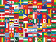 background made of world flag icons