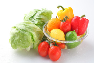 Various vegetables, fruit