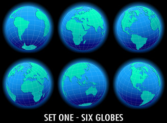 Six Global World in Space - SET ONE