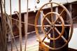 Steuerruder,Ruder auf einem alten Segelschiff im Hafen von Kiel,