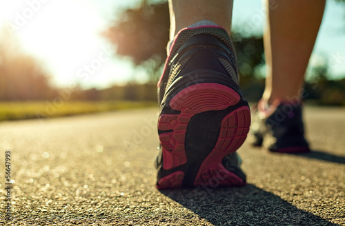 canvas print picture Woman running
