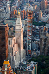 Aerial urban view of Midtown East, Manhattan, New York - Dusk