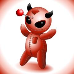 Voodoo Doll Evil Devil Cartoon-Diavoletto Demonio Cattivo