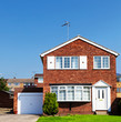 Redbrick English house wit garage