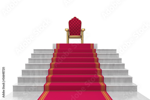 stairs on a white background