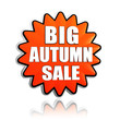 big autumn sale orange star banner