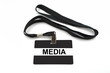Media badge isolated on white background