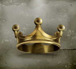 Gold crown old style icon