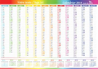 Calendrier à imprimer 2014, pour planifier tous vos projets
