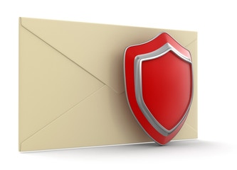 letter and Shield (clipping path included)