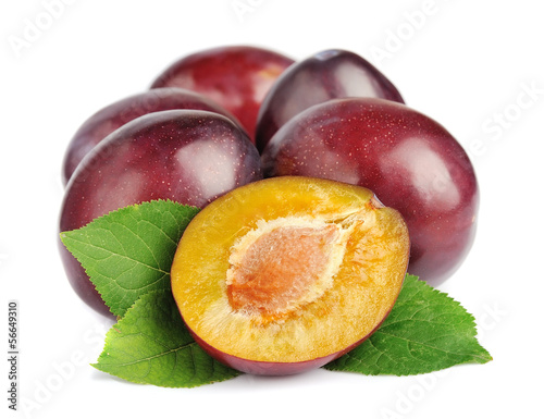 Sweet plums fruit