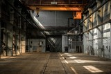 Fototapety Industrial interior of an old factory