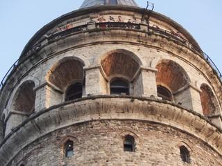Die Aussichtsplattform des Galataturms in Istanbul Beyoglu