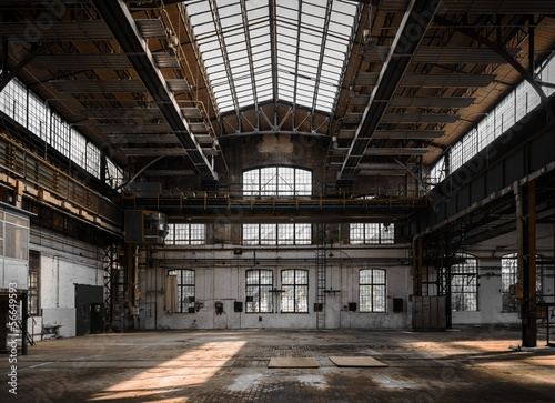 Industrial interior of an old factory - 56649593
