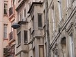 Erker und Balkons an alten Fassaden in Istanbul Erenköy