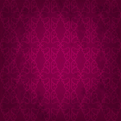 Seamless dark pink background with floral pattern