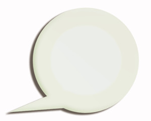 white 3d paper speech bubble