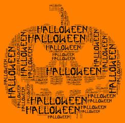 Halloween info word cloud concept