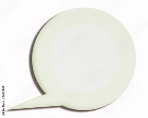 white 3d paper speech bubble