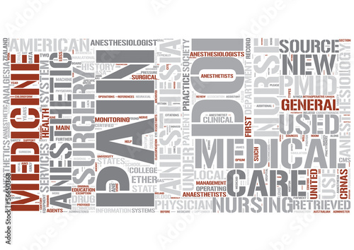 Anesthesiology Word Cloud Concept