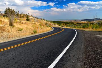 Glacier County Montana Roadway
