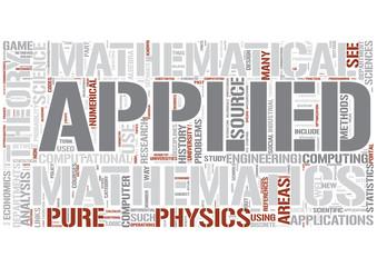 Applied mathematics Word Cloud Concept