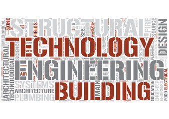 Architectural engineering Word Cloud Concept