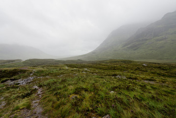 Glen Coe in the myst