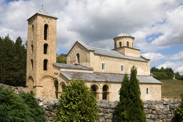 The orthodox Sopocani monastery in Serbia, UNESCO world heritage