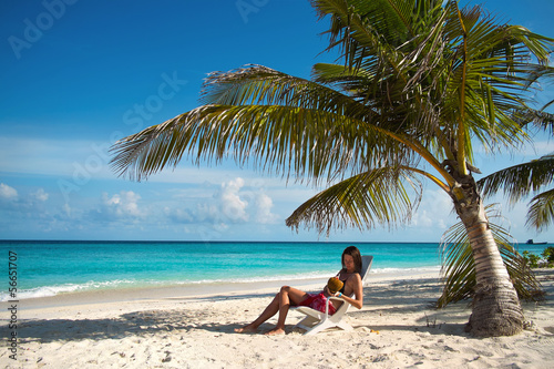 Girl on the beach (Maldives Lhaviyani Atoll)
