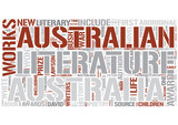Australian literature Word Cloud Concept