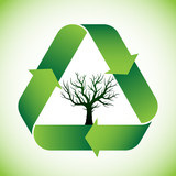 Tree in recycle symbol