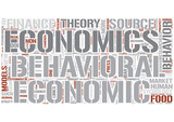 Behavioral economics Word Cloud Concept