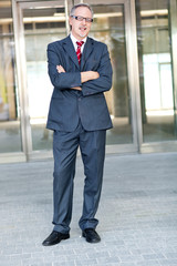 Full length businessman outdoor