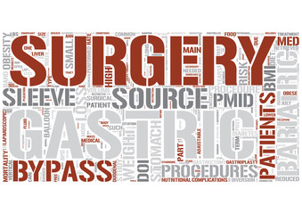 Bariatric surgery Word Cloud Concept