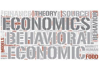 Behavioral economics Word Cloud Concept