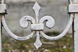 Wrought Iron Fleur-de-Lis in Pere-Lachaise Cemetery, Paris