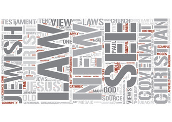 Biblical law in Christianity Word Cloud Concept
