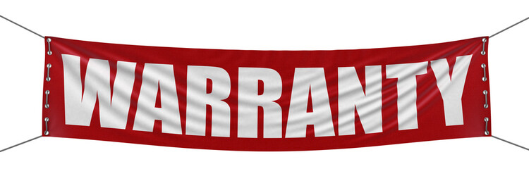 warranty banner (clipping path included)