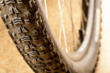 Muddy tire