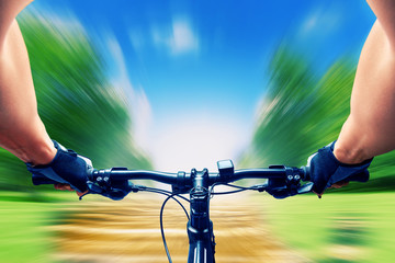 Man riding on a bicycle