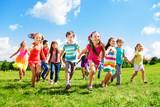 Kids running enjoying summer - Fine Art prints