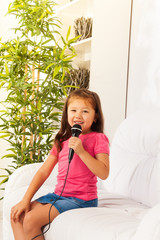 Cute little singer