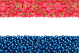 The flag of the Netherlands from raspberries and currants.