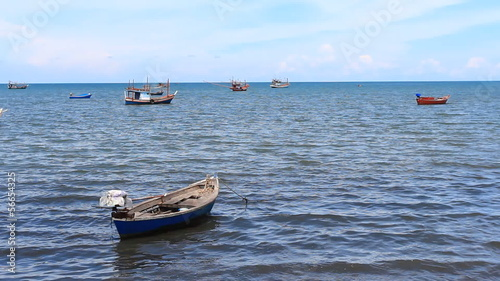 fishing boat at bay prachuap khiri khan, Thailand