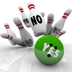 Yes Bowling Ball No Pins Overcoming Objection Answer